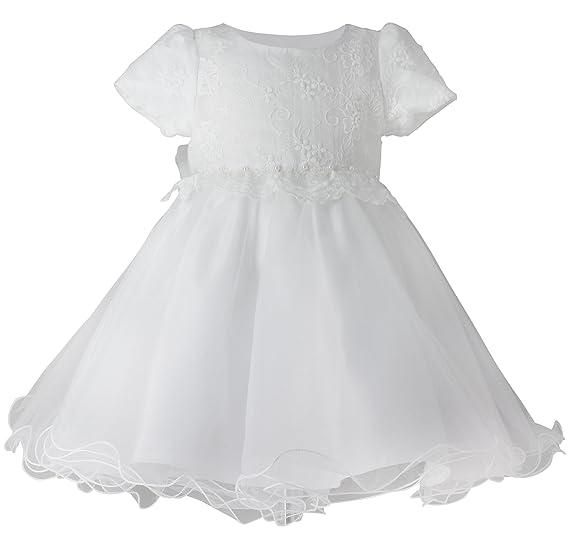 Boutique-Magique Robe de baptême Blanche bébé Fille Dentelle et Tulle 70cb143677a