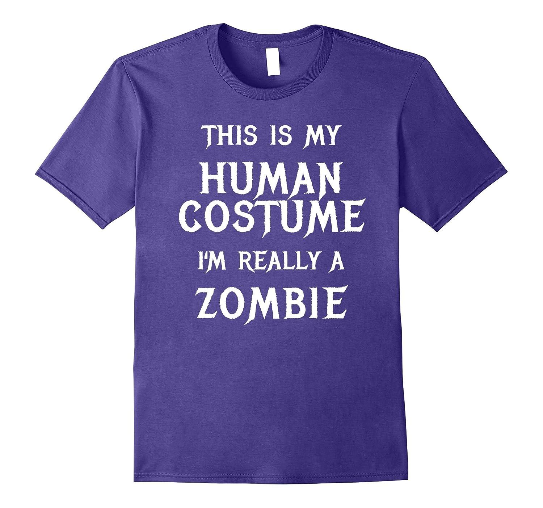 Zombie Halloween Costume Shirt Easy Funny for Men Boys Girl-Art