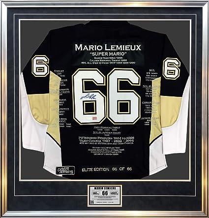 6aad80ee8d7 Mario Lemieux Elite Edition Career Jersey #66/66 Signed - Pittsburgh  Penguins