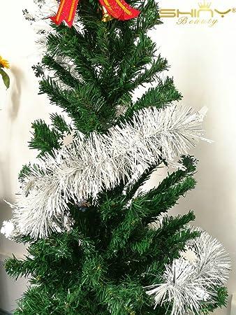 Christmas Tree Tinsel.Amazon Com Hot Sale 2m 6 5ft Christmas Tinsel Garland