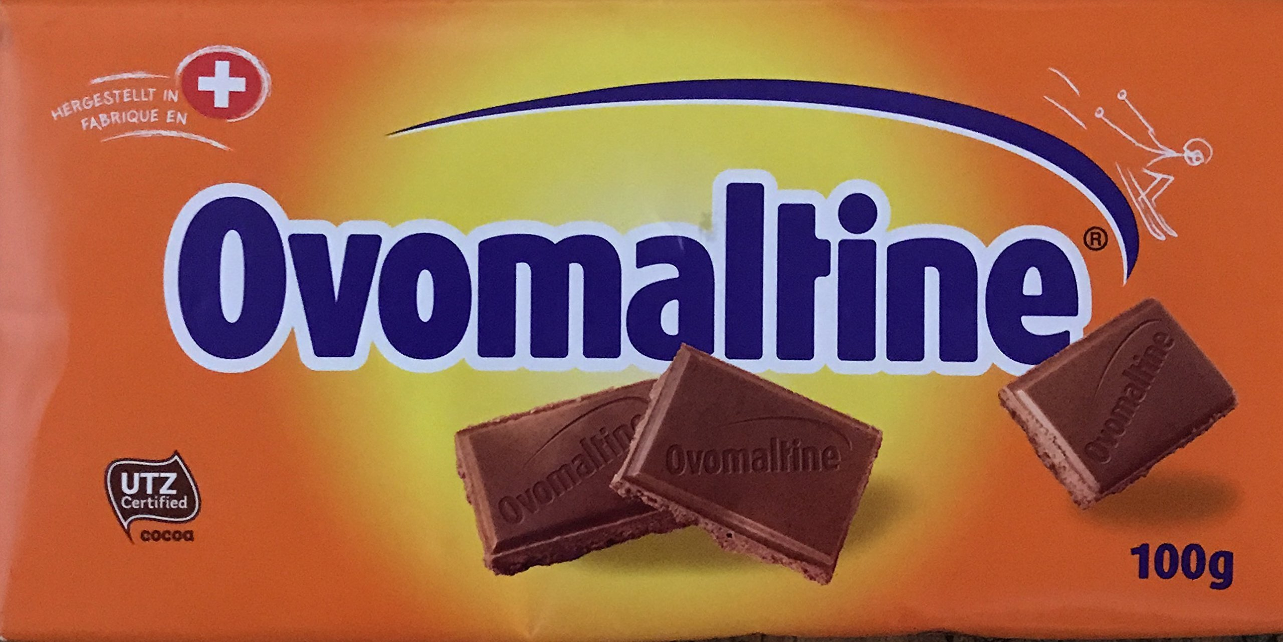 Amazon.com : Ovomaltine Chocolate Bars, 14 Pieces With Each 100 Grams, Switzerland : Candy And Chocolate Bars : Grocery & Gourmet Food