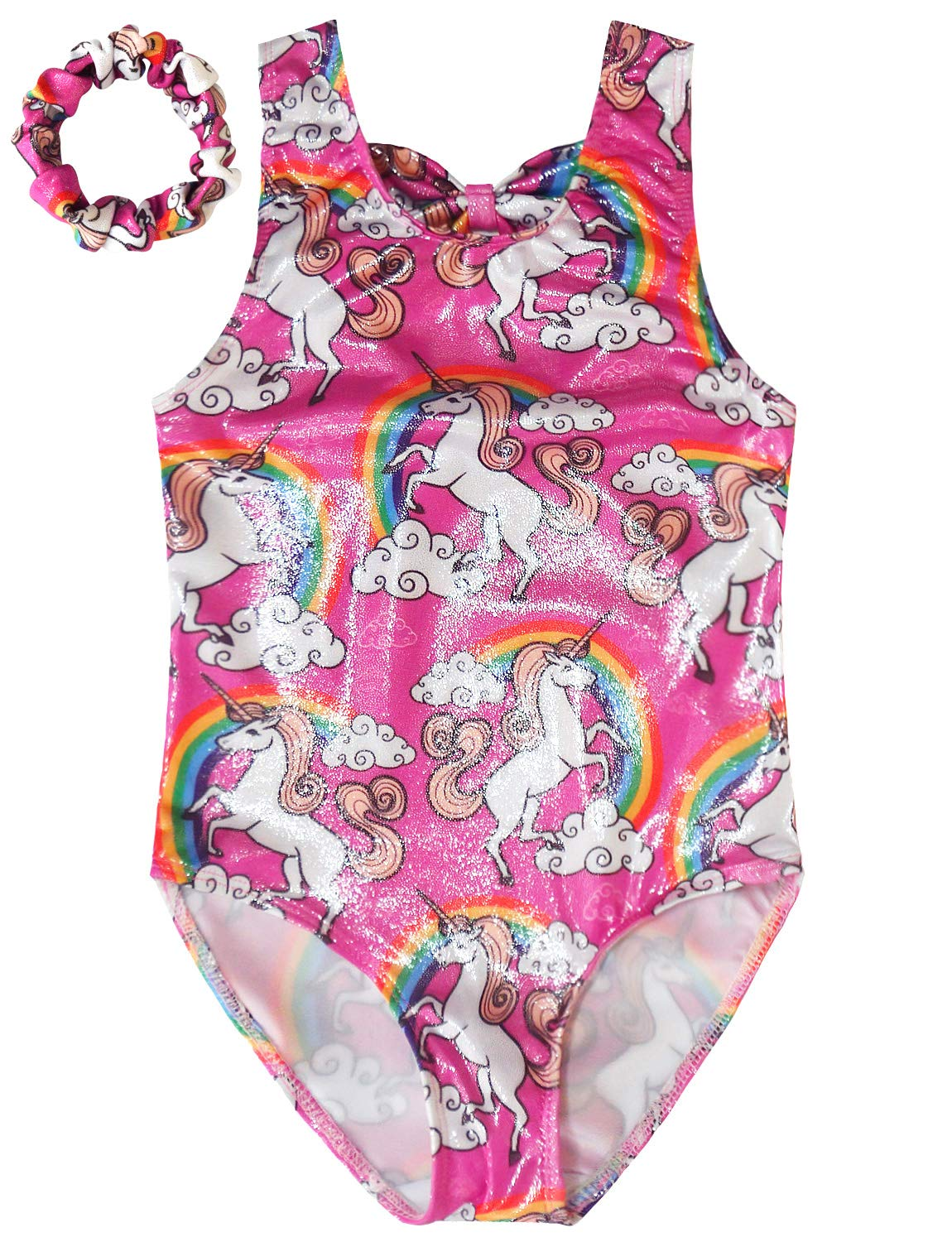 Gymnastics Leotards for Girls Sparkly Unicorn Outfits Activewear Quick Dry 3