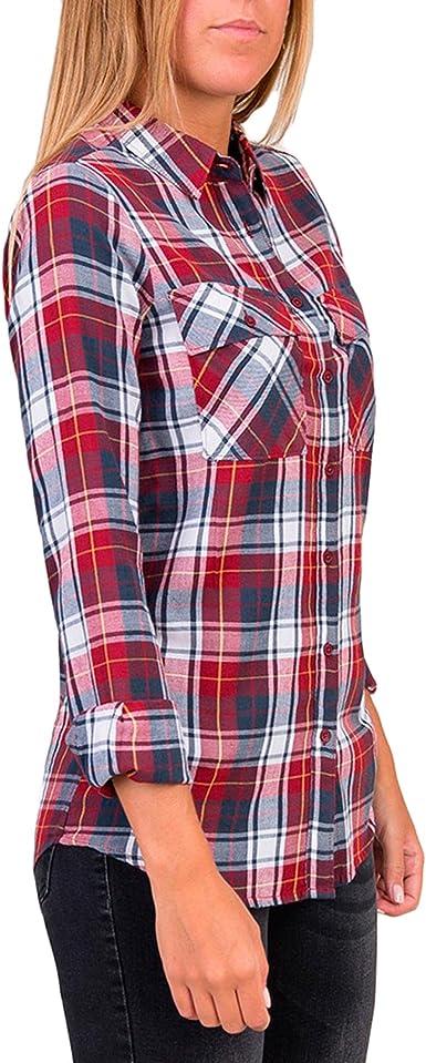 Tiffosi Nancy Camisa, Rojo (Red), (Tamaño del Fabricante:M) para Mujer: Amazon.es: Ropa y accesorios