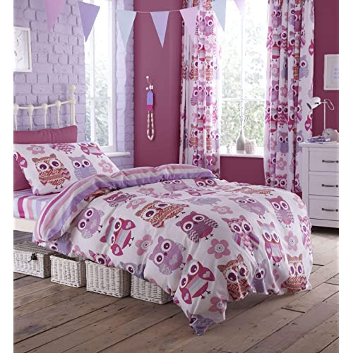 Catherine Lansfield Kids Girls Boys Tape Top Pair Fully: Kids Duvet Cover Single And Curtain: Amazon.co.uk