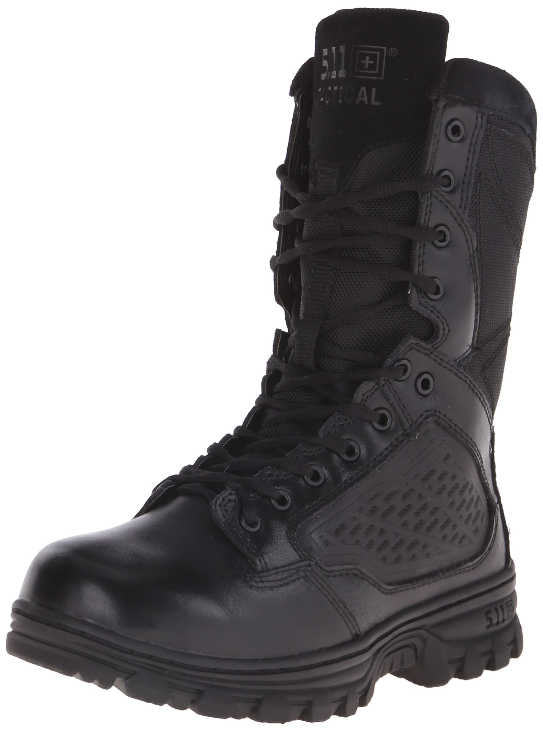 5.11 Men's Evo 8'' Side Zip Tactical Boot-M, Black, 10.5 D(M) US by 5.11