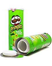Pringles Safe Can Diversion Sour Cream (Green). Hyper Realistic Portable Storage for Hiding Cash, Jewelry, Money, Stash, Keys, Where No One Will Expect. Includes Exclusive WENEED Scoop Card.