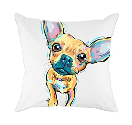 Amazon redland art cute pet chihuahua dogs pattern cotton redland art cute pet chihuahua dogs pattern cotton polyester throw pillow case cushion cover home decor solutioingenieria Gallery