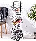 CarolynDesign 3 Tier Baskets Stand Metal Wire Storage Basket Stand for Kitchen, Hanging Storage Organizer Baskets for…