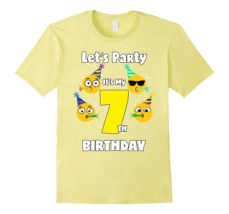 Emoji Birthday Shirt 7 Seven Year Old Girl Boy Toddler Cute CD