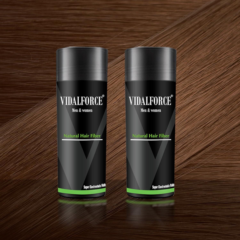 VidalForce Pack Fibras Capilares 2uds x 27,5g / Castaño Medio/: Amazon.es: Belleza