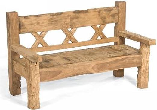 Sonnenpartner 80070045 - Banco para jardín (160 x 73 cm, madera de teca): Amazon.es: Hogar