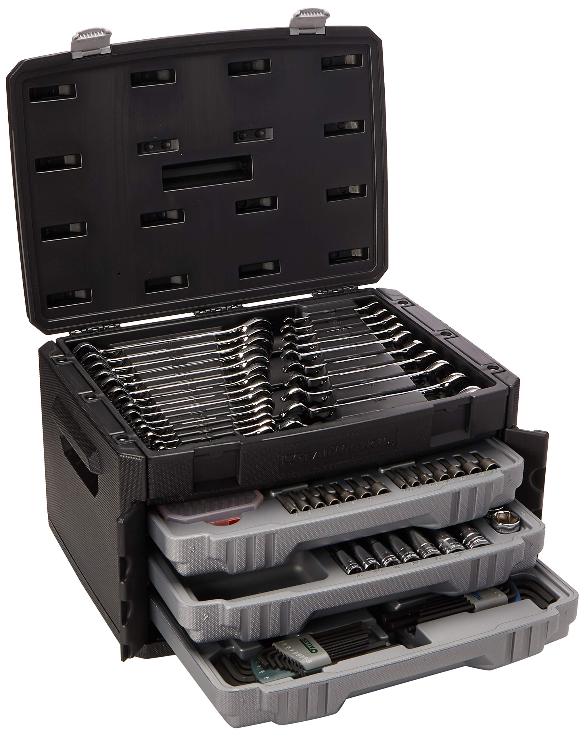 :GEARWRENCH 80944 - 232 Pc. Mechanics Tool Set in 3 Drawer Storage Box by GearWrench (Image #1)