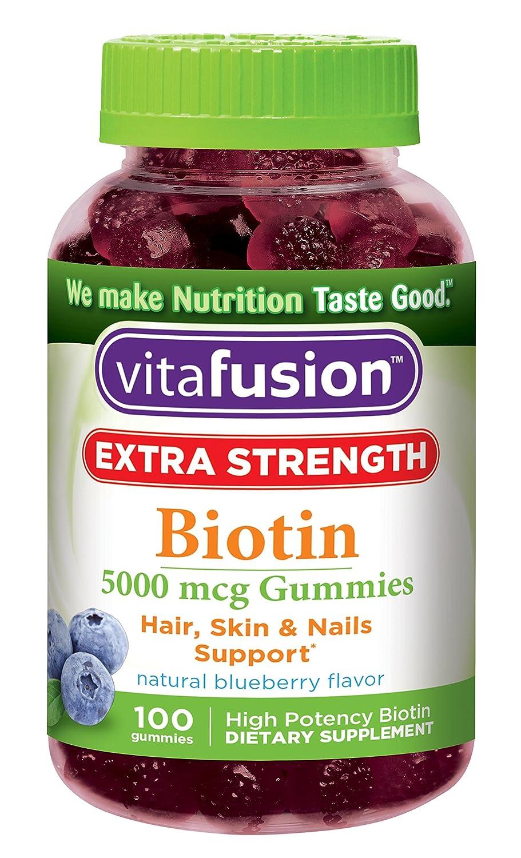 Biotin Gummy Vitamins 100 Count Hair Growth Healthy Nails Extra Strength New   eBay