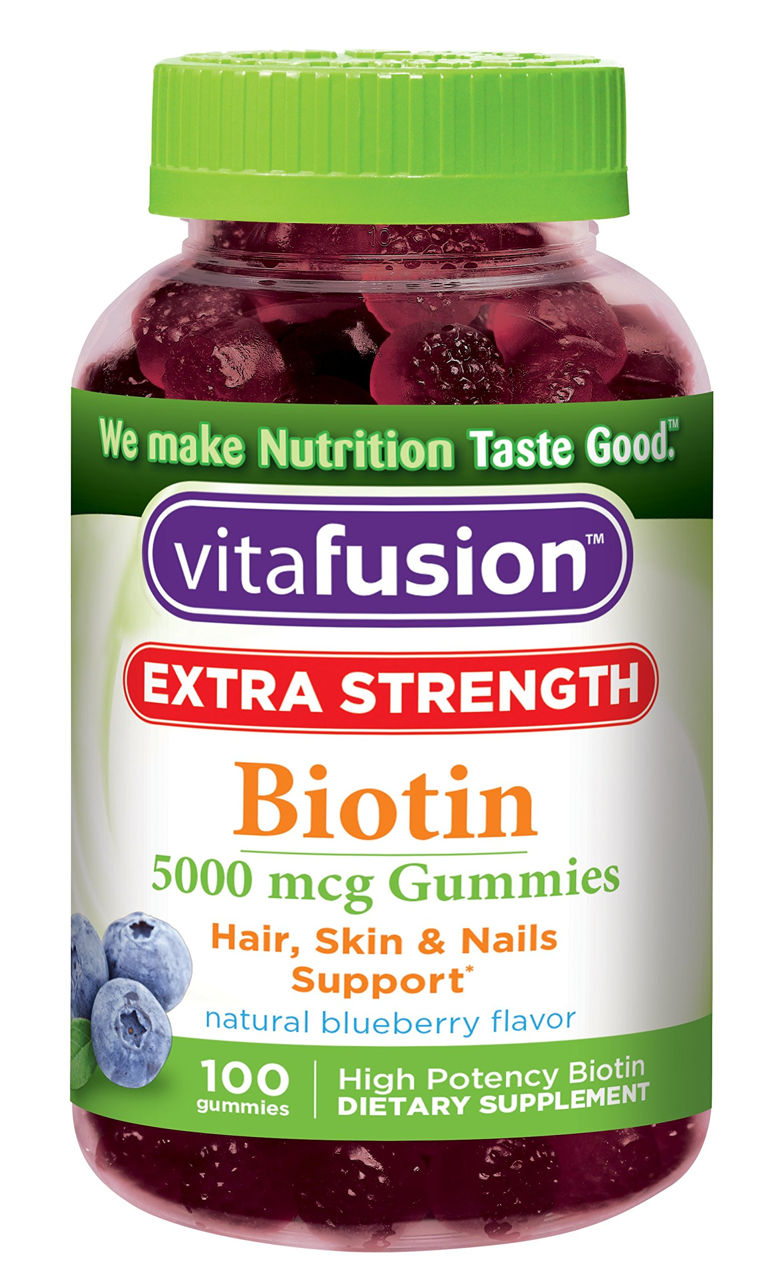 Vitafusion Extra Strength Biotin Gummies, 100 Count (Packaging May Vary)