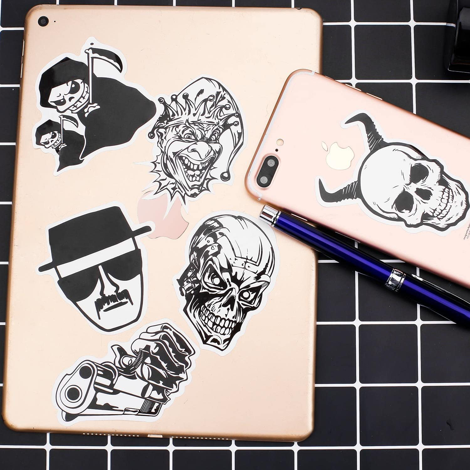 PROMENE 120 Pieces Stickers Vinyl Laptop Stickers for Car Motorcycle Bicycle Luggage Graffiti Patches Skateboard Wall Deacls