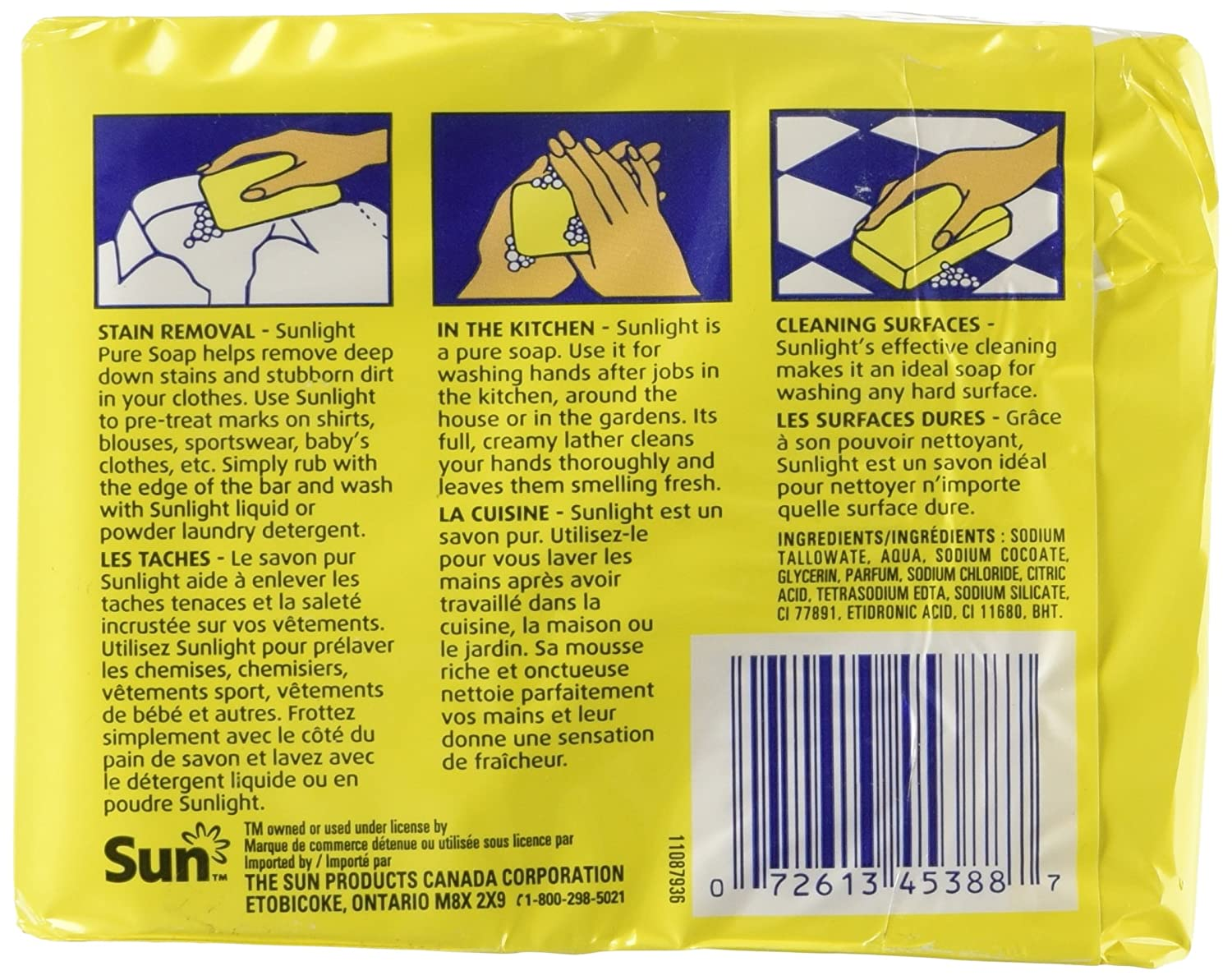 Amazon.com: Sunlight Lemon Laundry Detergent Bar, 2 x 130 Gram: Home & Kitchen