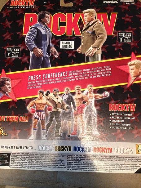 Jakks Pacific Rocky IV Exclusive Limited Edition Action Figure 2-Pack Ivan Drago and Apollo Creed by Jakks Pacific: Amazon.es: Juguetes y juegos