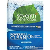 Seventh Generation, Inc 22150 Dishwashing Detergent, Natural, Powder, 45 oz., CL