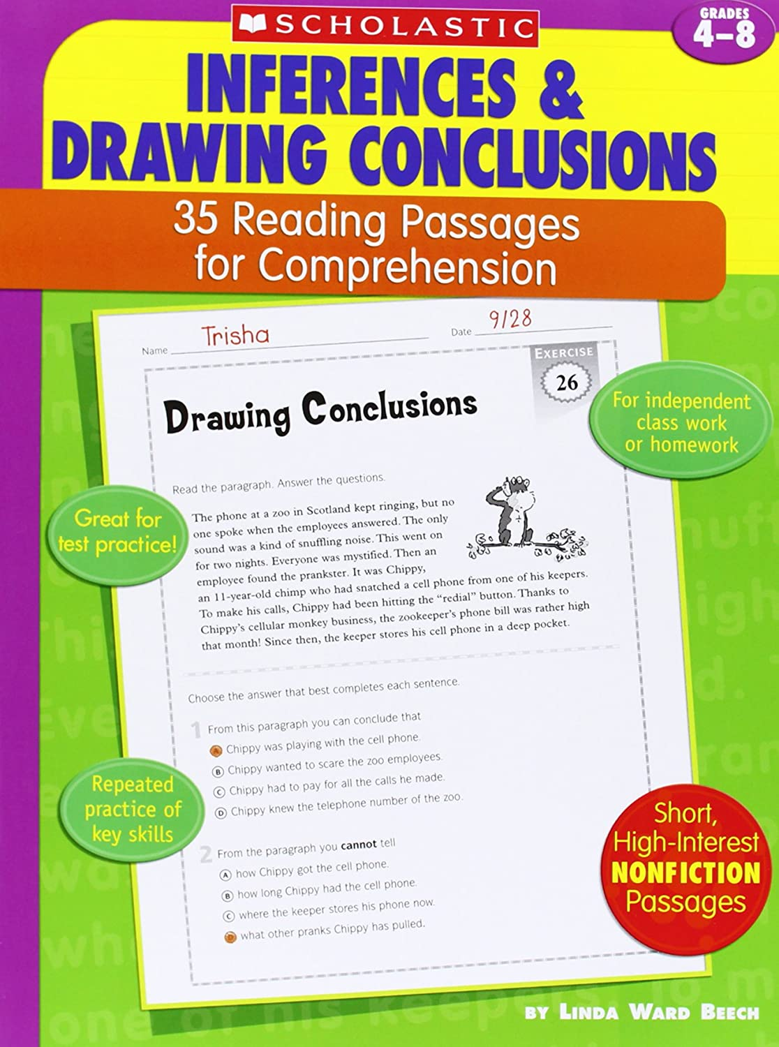 worksheet Drawing Conclusions Worksheets worksheet drawing conclusions worksheets 5th grade grass fedjp amazon com 35 reading passages for comprehension inferences conclusions
