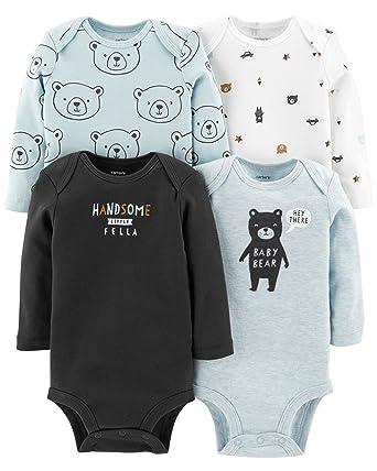 7b8186adf Amazon.com  Carter s Unisex-Baby 4-Pack Long Sleeve Bodysuits  Clothing
