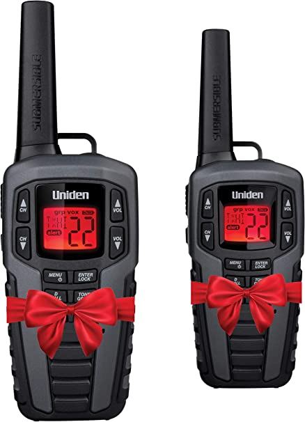 Uniden SX507-2CKHS Up to 50 Mile Range FRS Two-Way Radio Walkie Talkies W/Dual Charging Cradle, Waterproof, Floats, 22 Channels
