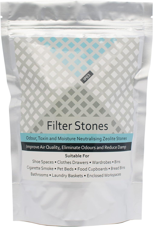 Rechargeable Zeolite Rocks Odour Eliminator Removes Smells Around Home 1lb White