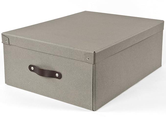 Amazon.com: Bigso KD Caja con mango de piel: Home & Kitchen