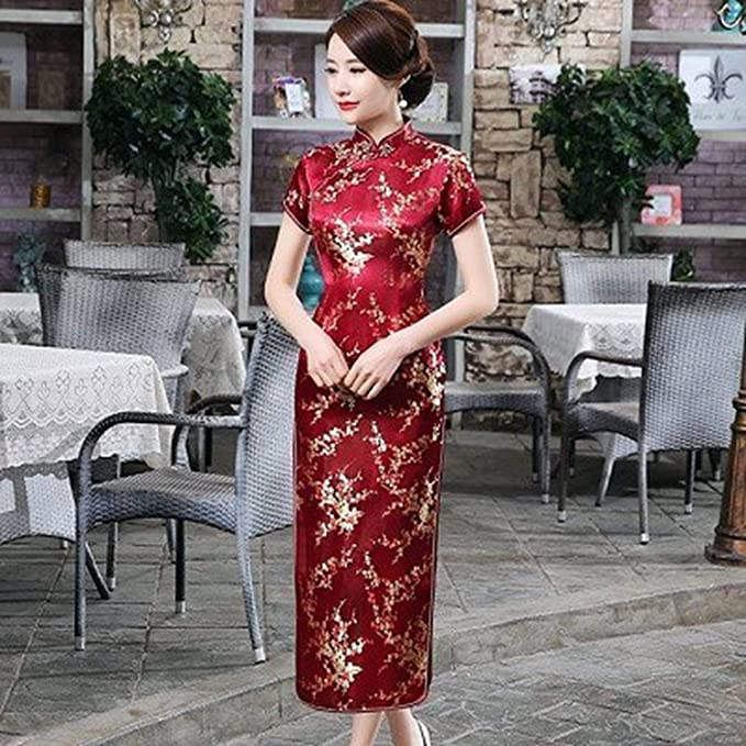 Amazon.com: Traditional Chinese Dresses Cheongsam Dragon ...