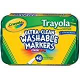 Crayola; Ultra-Clean; Fine Line Markers; Art Tools; 48 ct.; 6 Each of 8 Different Colors; Bright, Bold Washable Colors