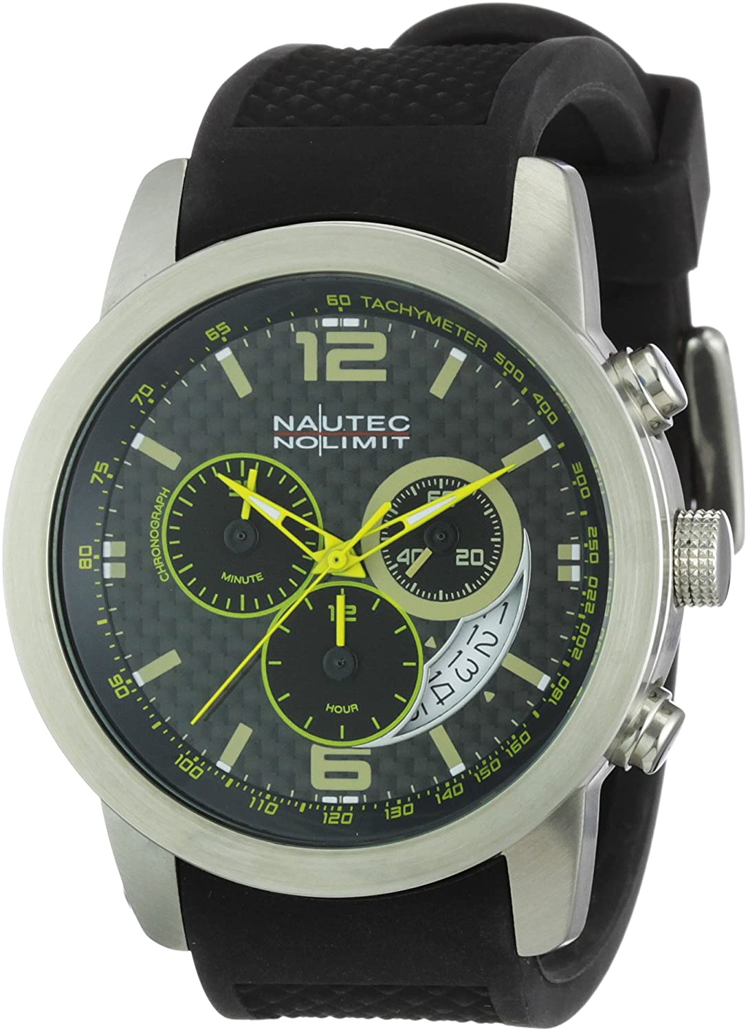 Nautec No Limit Herren-Armbanduhr Cobra CO QZ-RBSTSTCA-SC