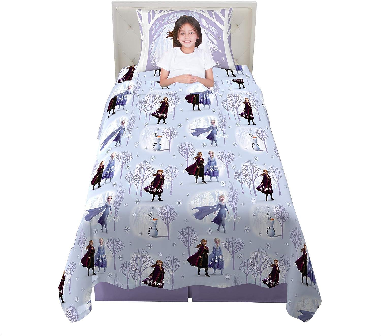 Franco Kids Bedding Super Soft Flannel Sheet Set 3 Piece Twin Size Disney Frozen 2 Amazon Ca Home Kitchen