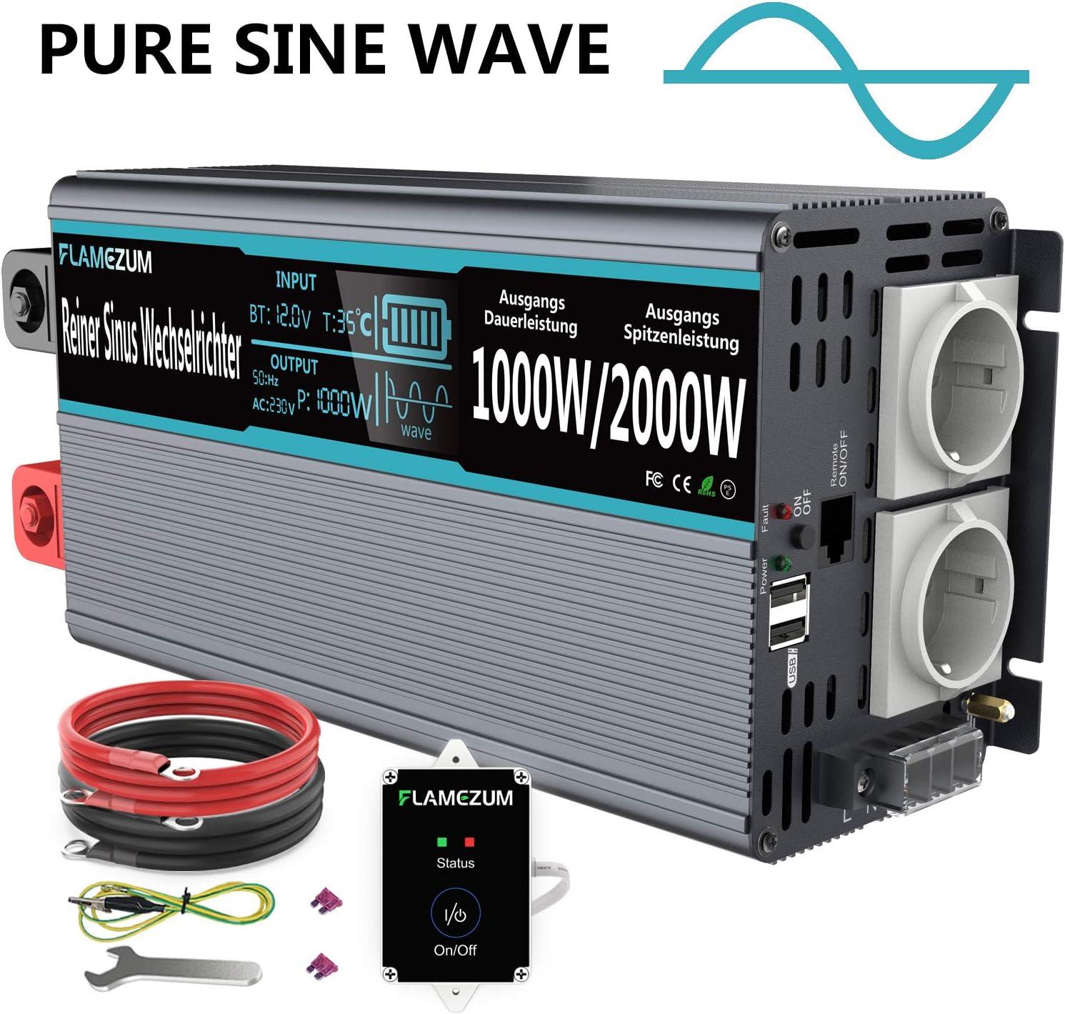 1000w Reiner Sinus Spannungswandler 12v Auf 230v 1000w Elektronik