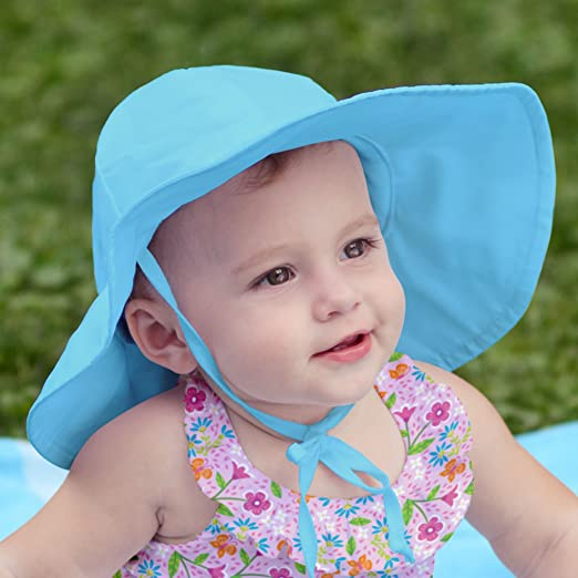 Amazon.com  i play Solid Brim Sun Protection Hat White 6-18 mo. Infant   Sports   Outdoors 170bbce85b4