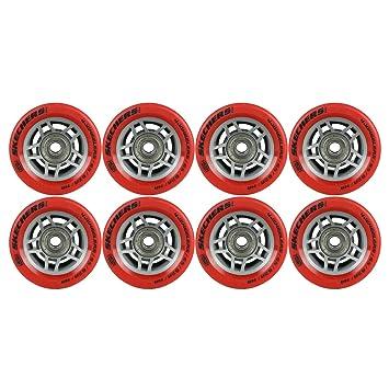 Skechers 4 ruedas Quad Derby ruedas para patines rojo 65 mm x 35 mm con rodamientos: Amazon.es: Deportes y aire libre