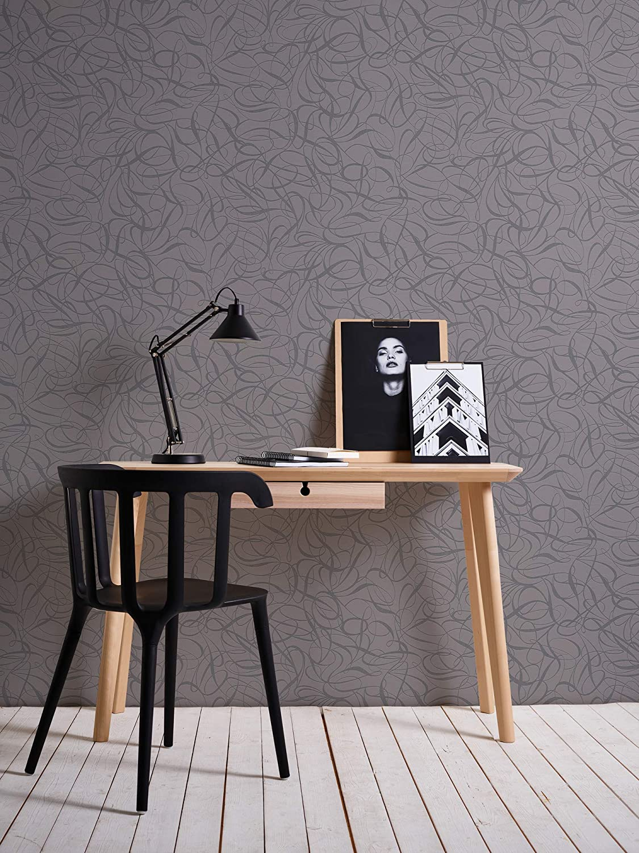 Livingwalls papel pintado de tejido-no-tejido Fairyland gris met/álico 10,05 m x 0,53 m 132017