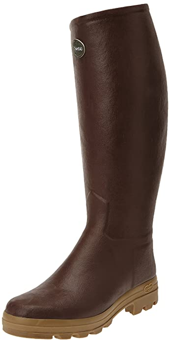 Le Chameau Men/'s St Hubert Leather Lined Boots size 44 UK 10 NEW Marron Brown