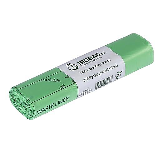 All-Green – Bolsas de Basura biodegradables y compostables (con guía de compostaje), 10 Unidades