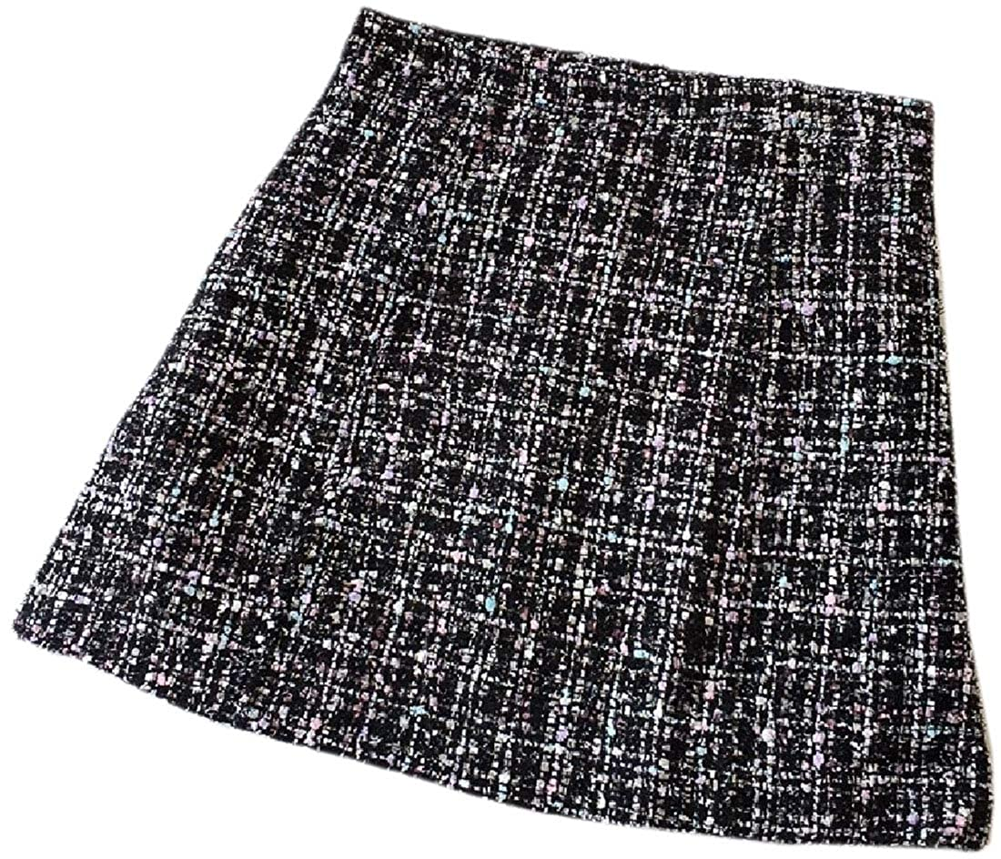 dahuo - Falda Mini para Mujer, diseño de Pata de Gallo Negro Negro ...