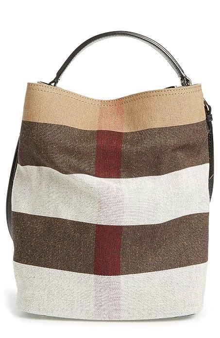 1e8d735610e2 Burberry Medium Ashby Canvas Check Leather Tote - Black  Amazon.ca  Shoes    Handbags