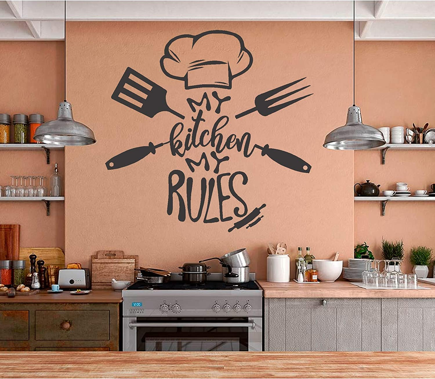 Kitchen Quotes Wall Stickers Vinyl Decals Art Home Decoration