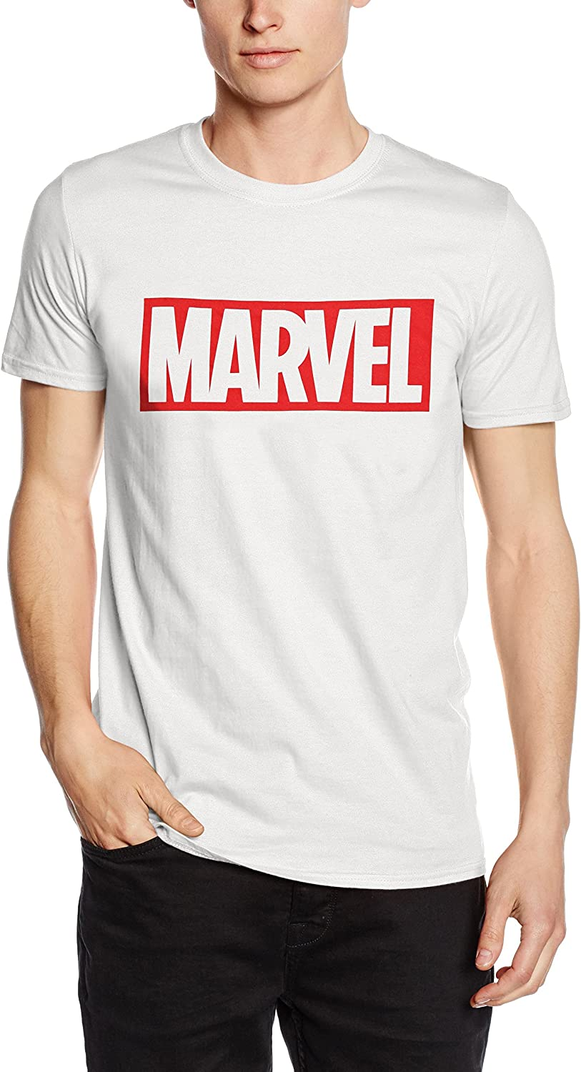 Marvel Comics-Core Logo-Mens-T-Shirt Uomo