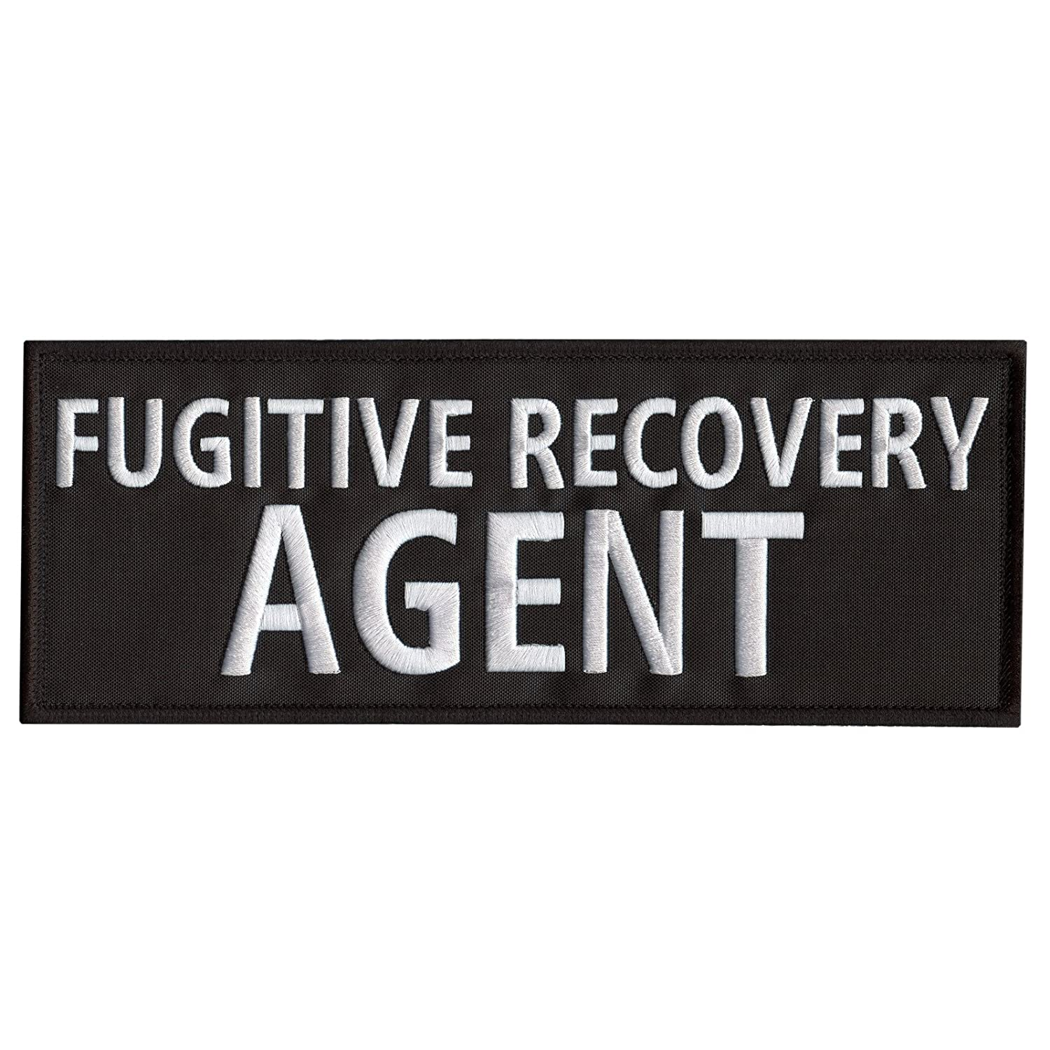 FUGITIVE RECOVERY AGENT Large XL 10x4 Body Armor Plate Carrier Fastener /Écusson Patch
