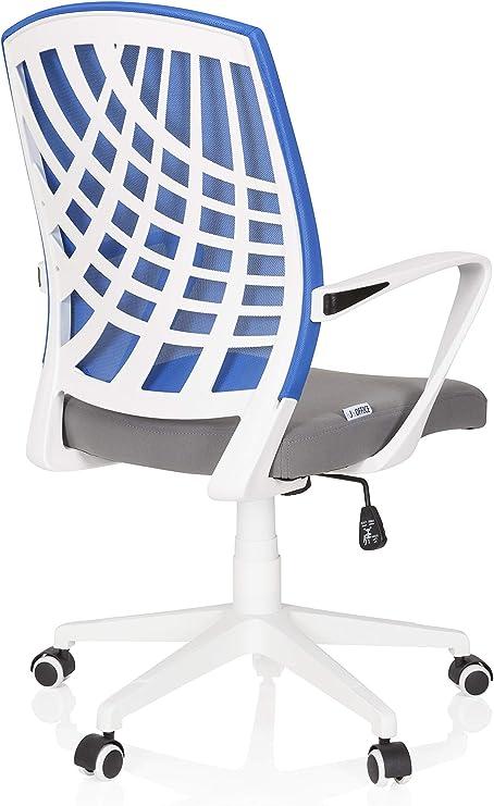 Schreibtischstuhl Mesh Bürostuhl Weiß Drehstuhl Stoff Netz SPRING hjh OFFICE
