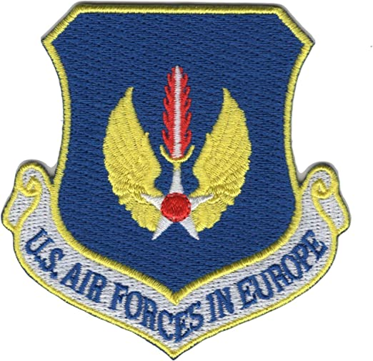 AIR FORCE FORCES IN EUROPE COMMAND USAFE HOOK AND LOOP EMBROIDERED PATCH