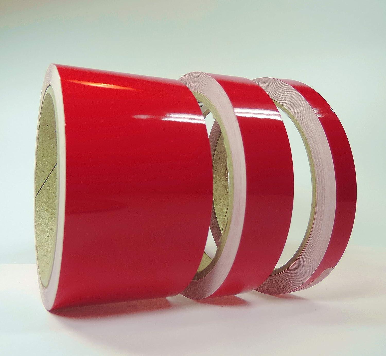 Ornamentales rayas 10/m rojo 9/mm Auto Barco Moto acu/ática Modelo Dise/ño vinilo Decoraci/ón Rayas