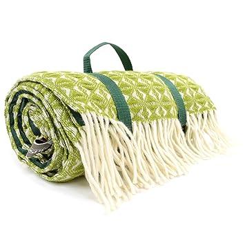 wasserfest Picknick-Decke//Reisedecke//Camping//Strand Mat Extra gro/ß 100/% Wolle f/ür Bushga Made in EU