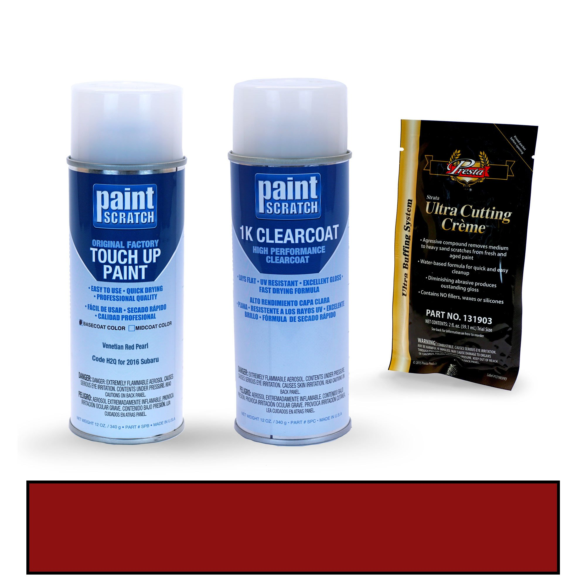 PAINTSCRATCH Venetian Red Pearl H2Q for 2016 Subaru Crosstrek - Touch Up Paint Spray Can Kit - Original Factory OEM Automotive Paint - Color Match Guaranteed