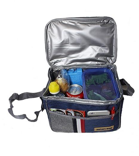 OnlyOnline Pack Bolsa ISOTERMICA pequeña + Acumulador de Frio+Tupper REGALADOS tamaños Diferentes:Porta Alimentos 7L o 5Litros ...
