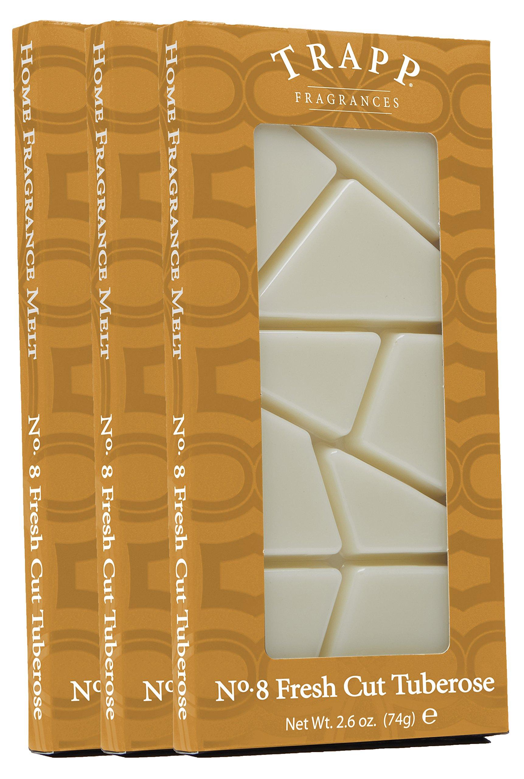 Trapp Home Fragrance Melt, No. 8 Fresh Cut Tuberose, 2.6-Ounce, 3-Pack