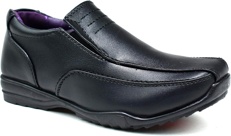 Us Brass Boys Kids Slip On Loafers Back to School Formal Shoes UK Size